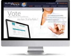 page d'accueil du site alphavote avex