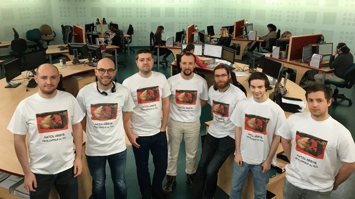 L'équipe informatique d'Absys dans le centre d'appels